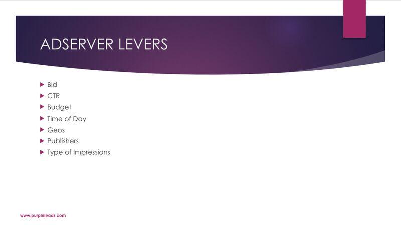 James Van Elswyk - Adserver Levers