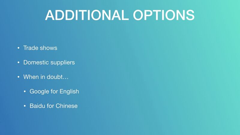 Mark Houng - Additional Options