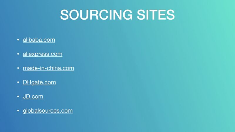 Mark Houng - Sourcing Sites