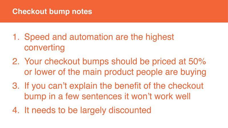 Neil Patel - Checkout bumps Notes