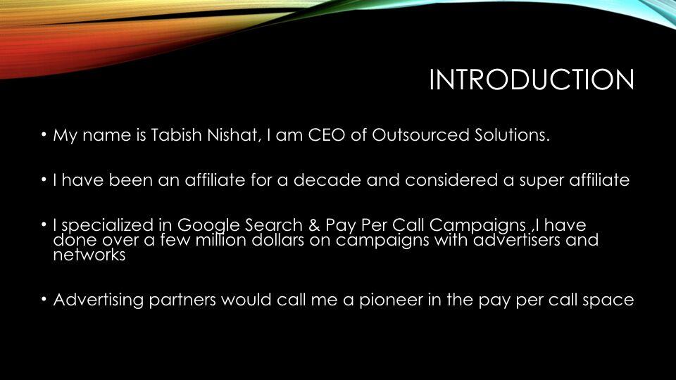 Tabish Nishat – Introduction