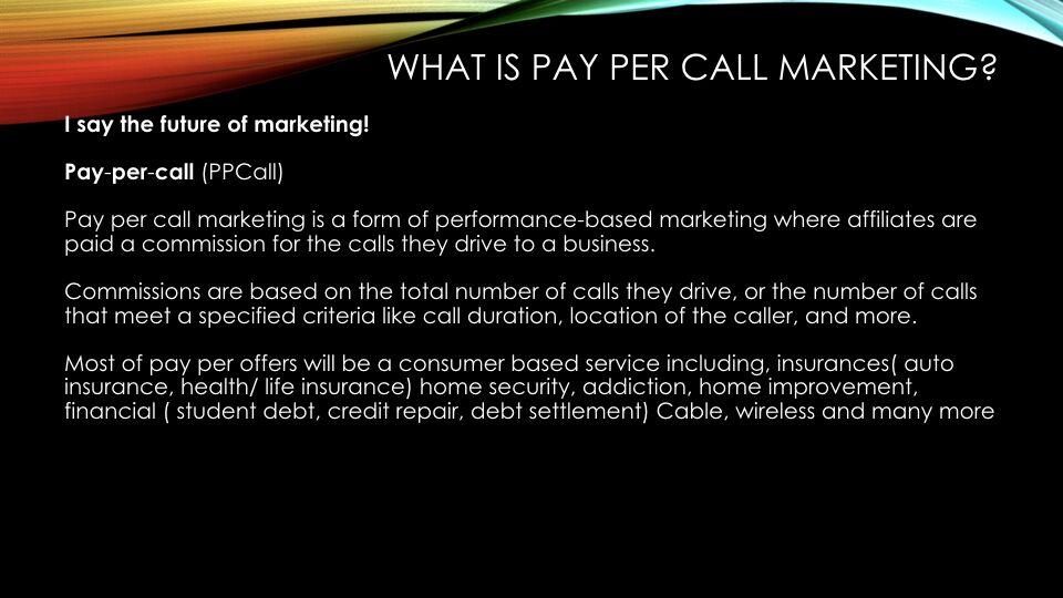 Tabish Nishat – Pay-Per-Call Marketing