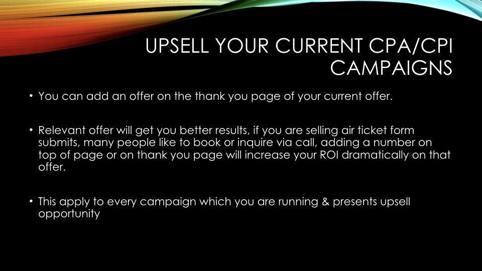 Tabish Nishat – Upsell Your Campaigns