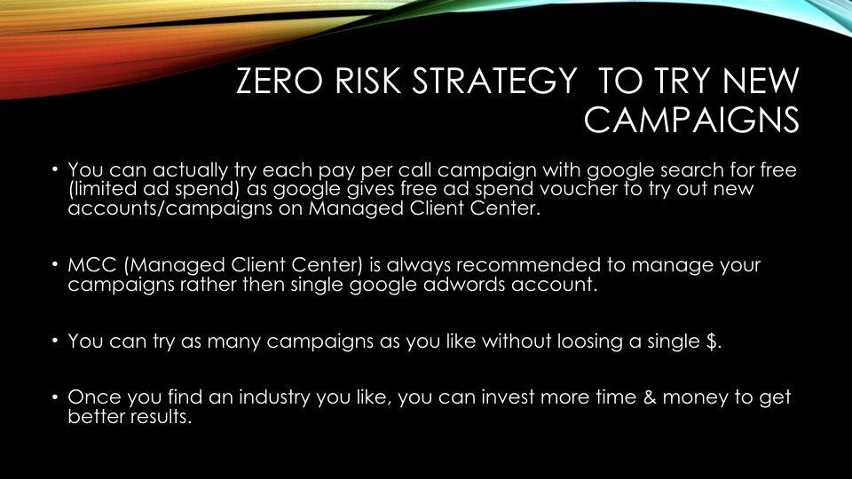Tabish Nishat – Zero Risk Strategy