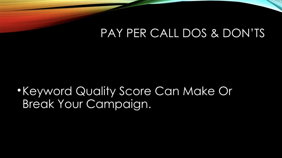 Tabish Nishat - Pay-Per-Call Dos And Don'ts