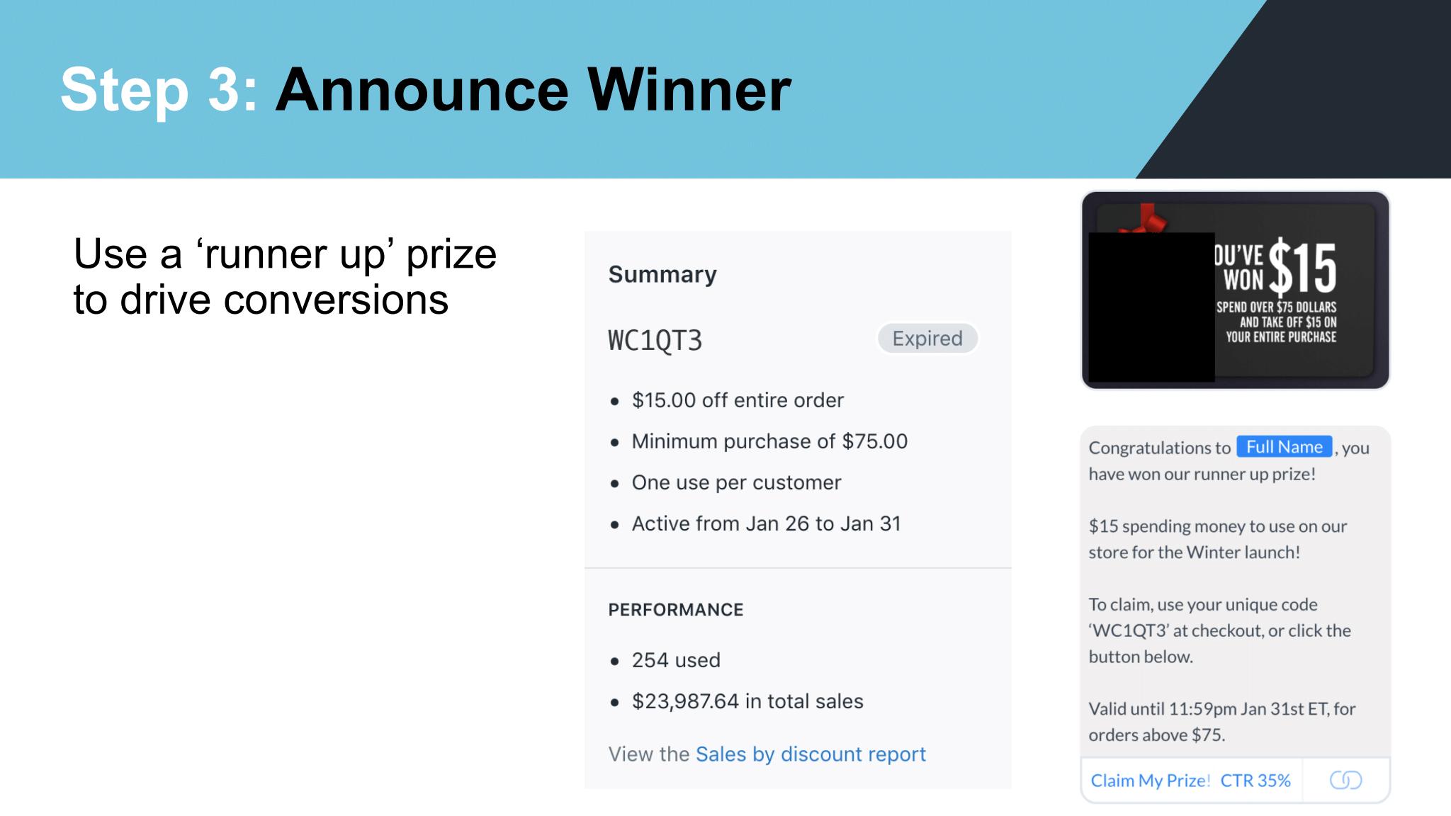 Dimitri Nikolakakis – Announce Winner