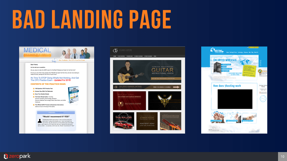 Mateusz Drela – Example Of Bad landing Page