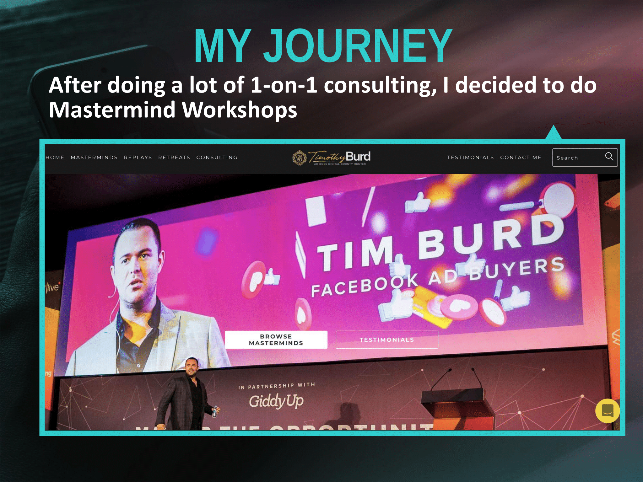 Tim Burd – Mastermind Workshops
