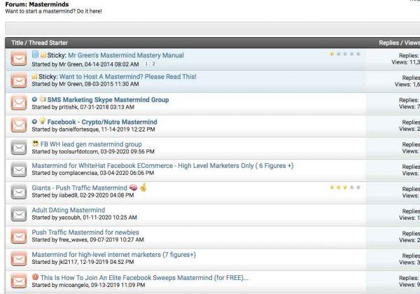 STM Forum Mastermind Threads
